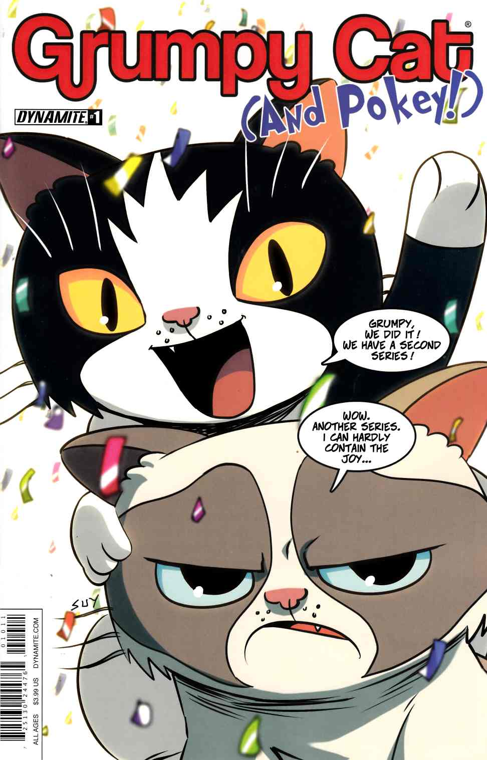 Grumpy Cat & Pokey #1 Cover A- Uy [Dynamite Comic] LARGE