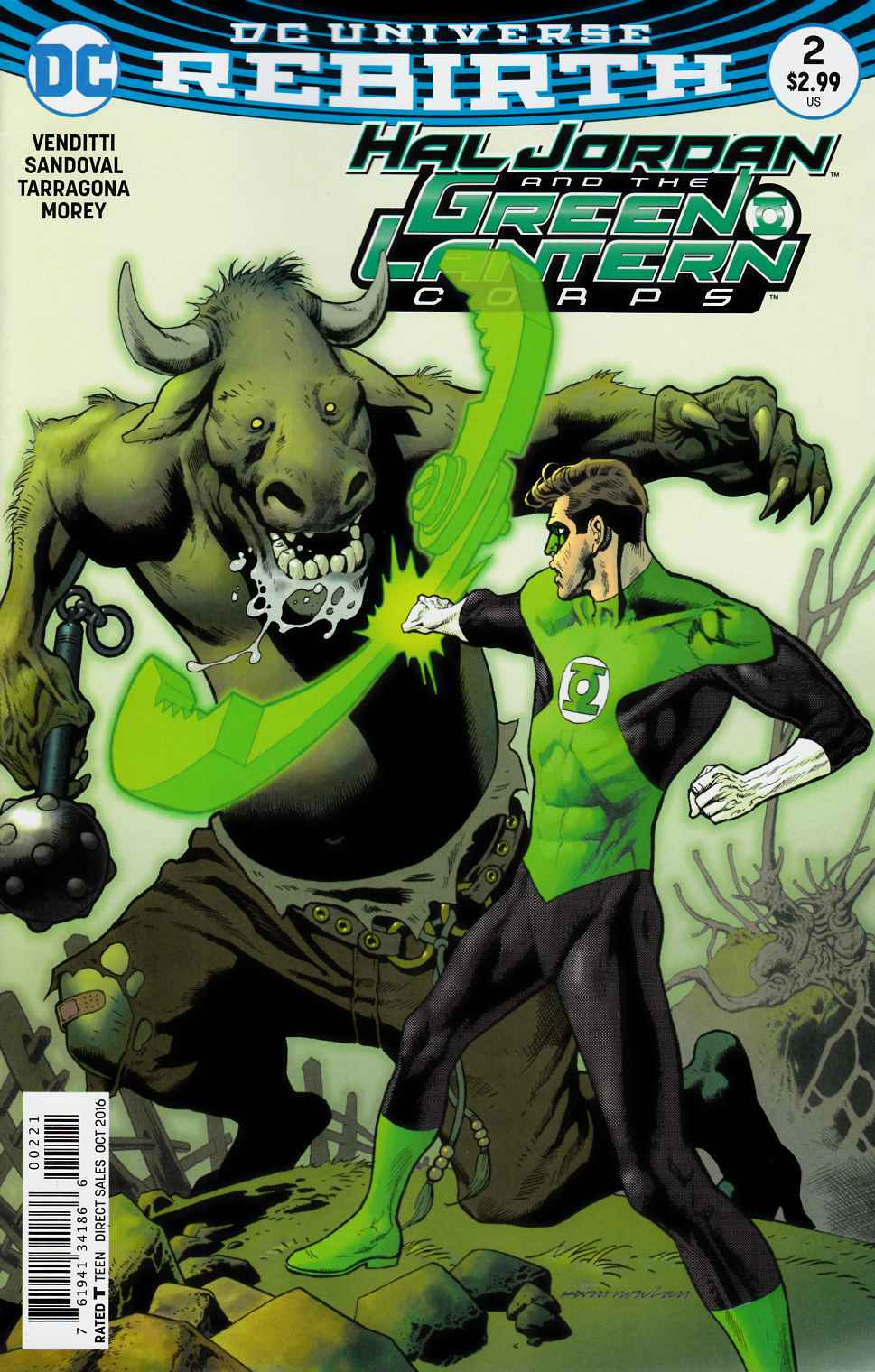 Hal Jordan and the Green Lantern Corps #2 Nowlan Variant Cover [DC Comic] LARGE