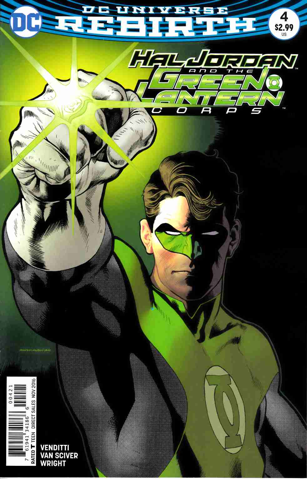 Hal Jordan and the Green Lantern Corps #4 Nowlan Variant Cover [DC Comic] LARGE
