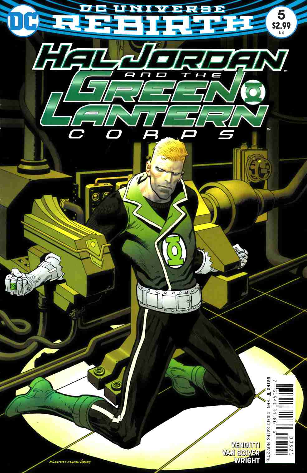 Hal Jordan and the Green Lantern Corps #5 Nowlan Variant Cover [DC Comic] LARGE