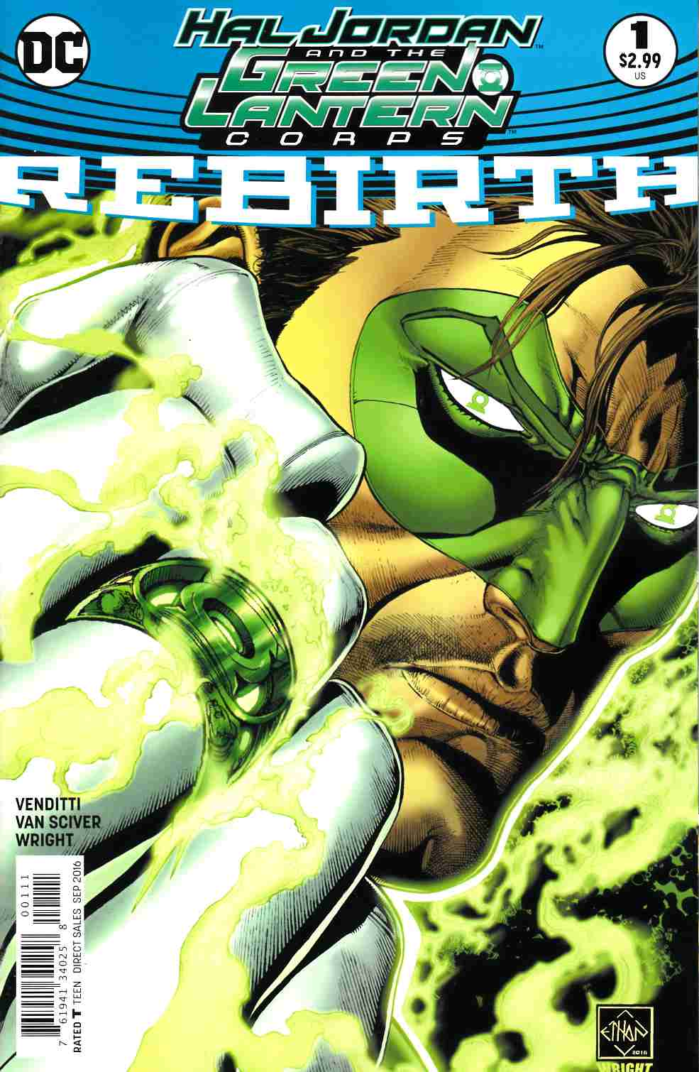 Hal Jordan and the Green Lantern Corps Rebirth #1 [DC Comic] THUMBNAIL