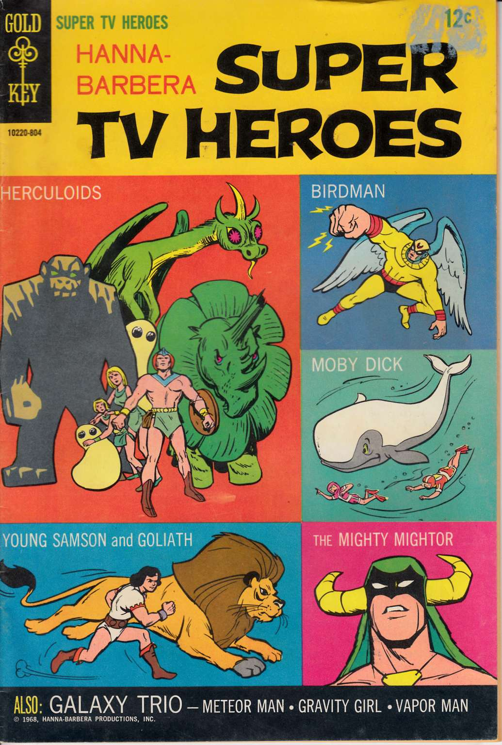 Hanna Barbera Super TV Heroes #1 Very Good Minus (3.5) [Gold Key Comic] LARGE