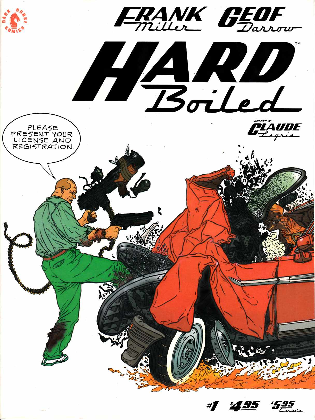 Hard Boiled #1 Very Good Plus (4.5) [Dark Horse Comic] THUMBNAIL