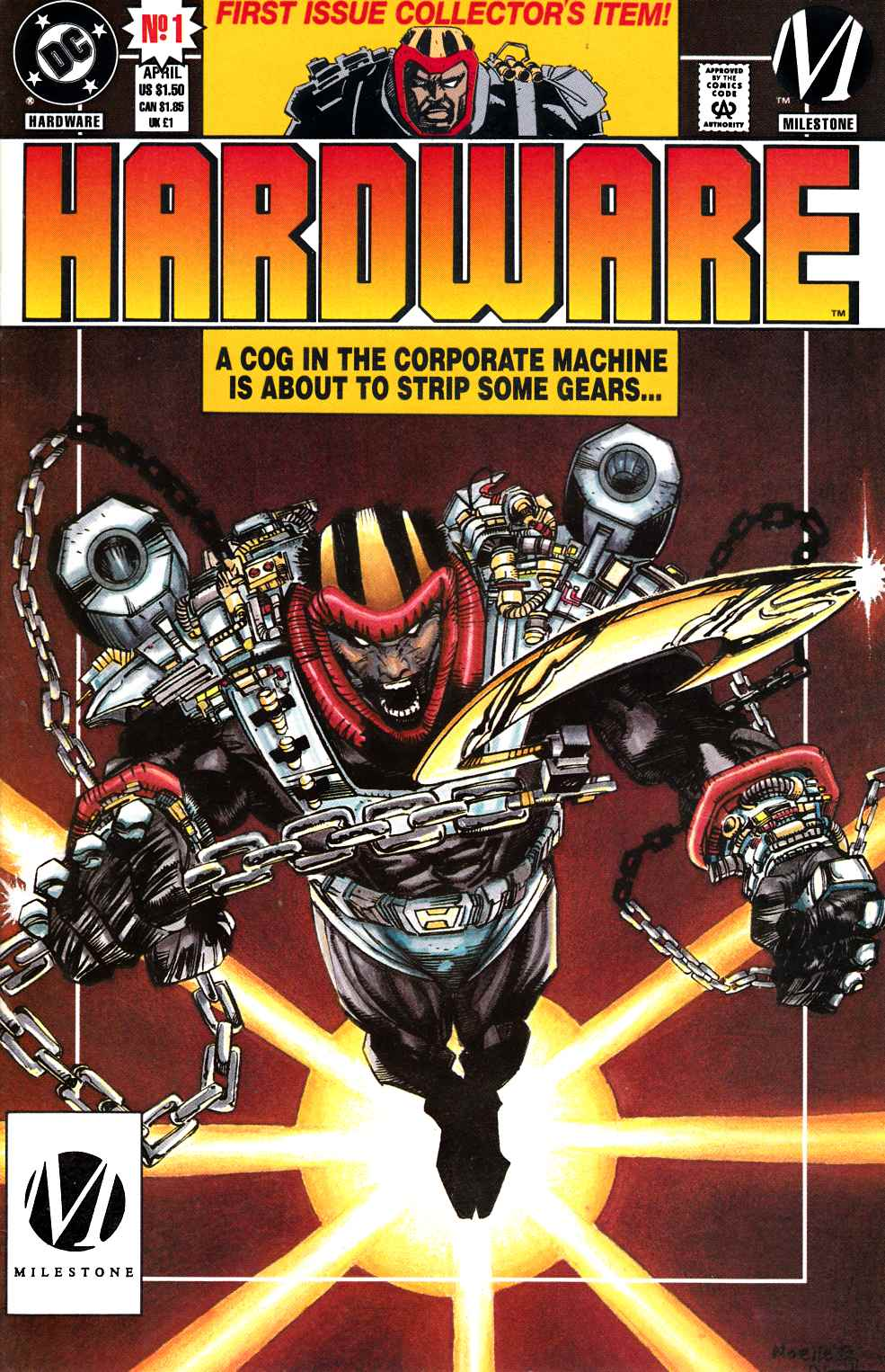 Hardware #1 Newsstand Edition- Near Mint (9.4) [DC Comic] THUMBNAIL