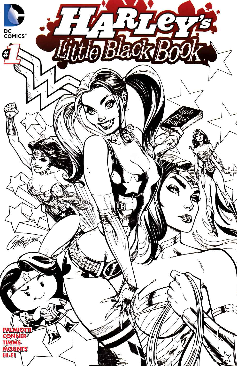 Harleys Little Black Book #1 Campbell Inked Variant Cover [DC Comic]_THUMBNAIL