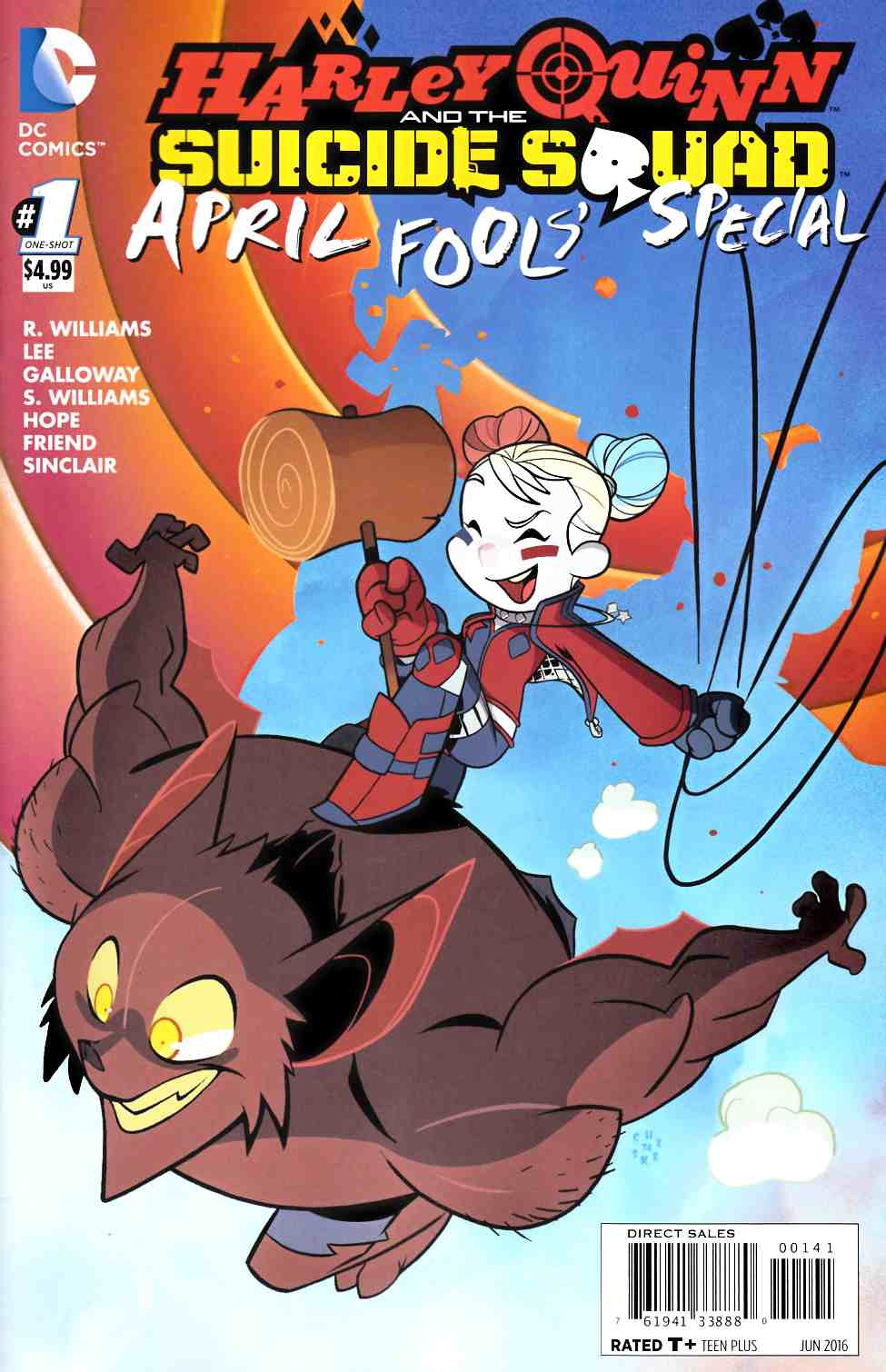 Harley Quinn & Suicide Squad April Fools Special #1 Galloway Variant Cover [DC Comic] LARGE