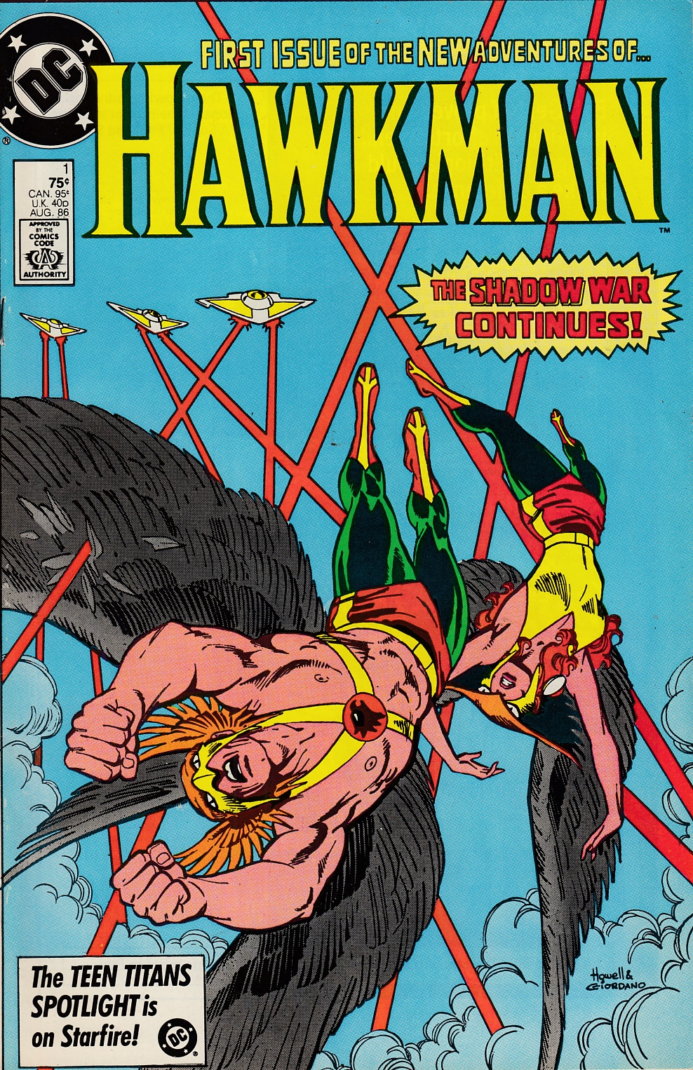 Hawkman #1 Very Fine Minus (7.5) [DC Comic] LARGE
