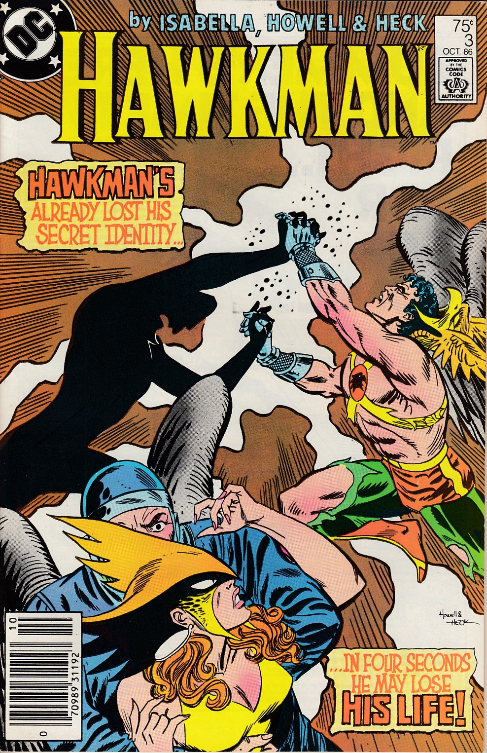 Hawkman #3 Newsstand Edition Very Fine Minus (7.5) [DC Comic] LARGE