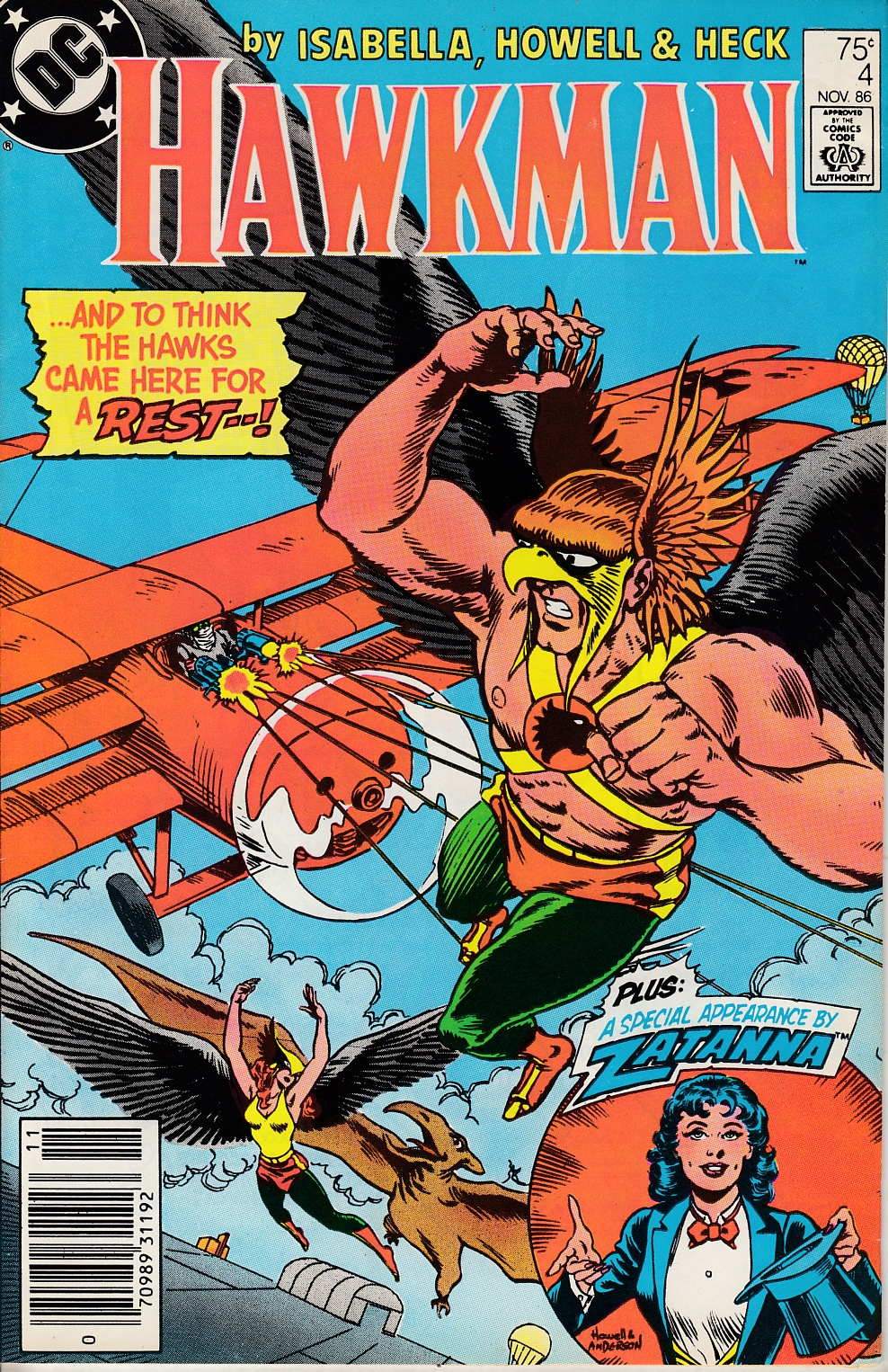 Hawkman #4 Newsstand Edition Very Fine (8.0) [DC Comic] LARGE