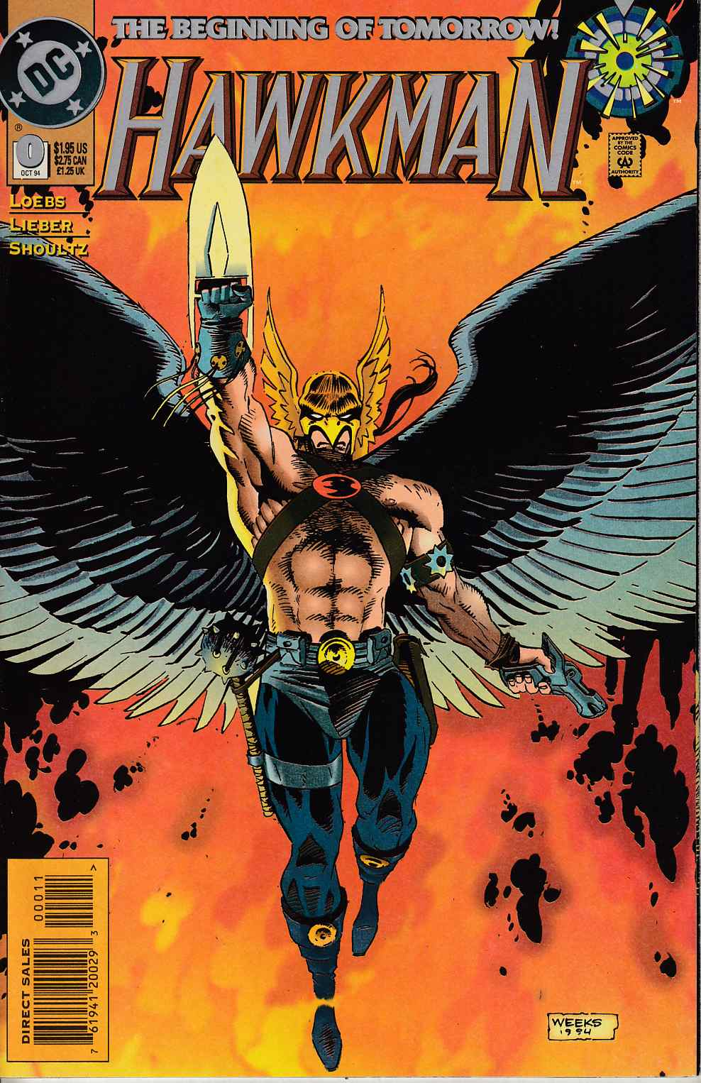 Hawkman #0 Near Mint (9.4) [DC Comic] LARGE