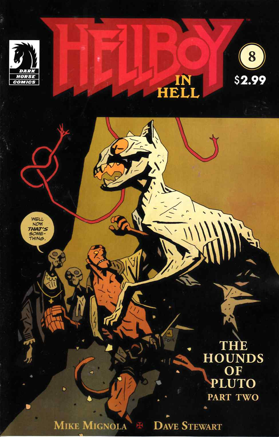 Hellboy in Hell #8 Near Mint (9.4) [Dark Horse Comic]