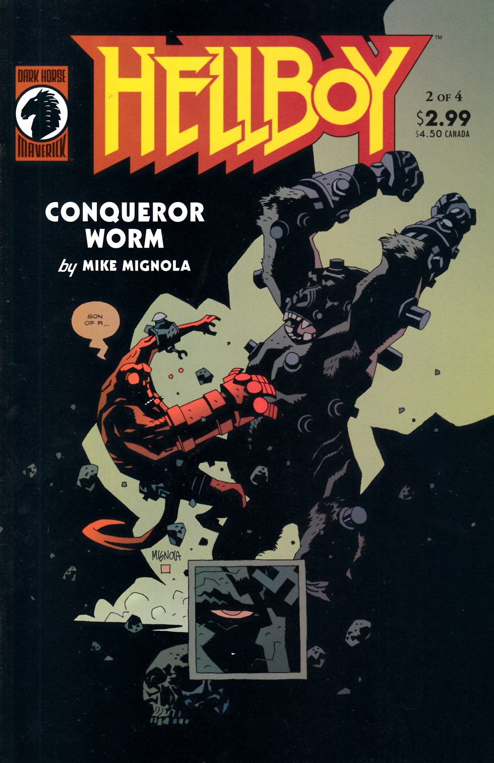 Hellboy Conqueror Worm #2 Near Mint (9.4) [Dark Horse Comic] THUMBNAIL