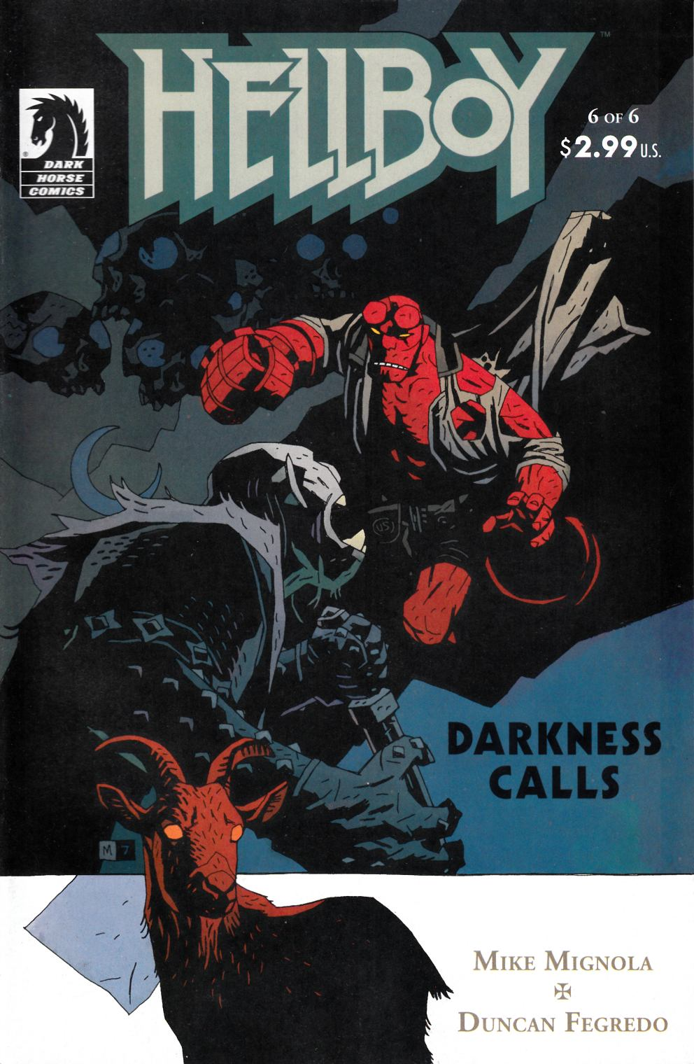 Hellboy Darkness Calls #6 Near Mint Minus (9.2) [Dark Horse Comic] THUMBNAIL