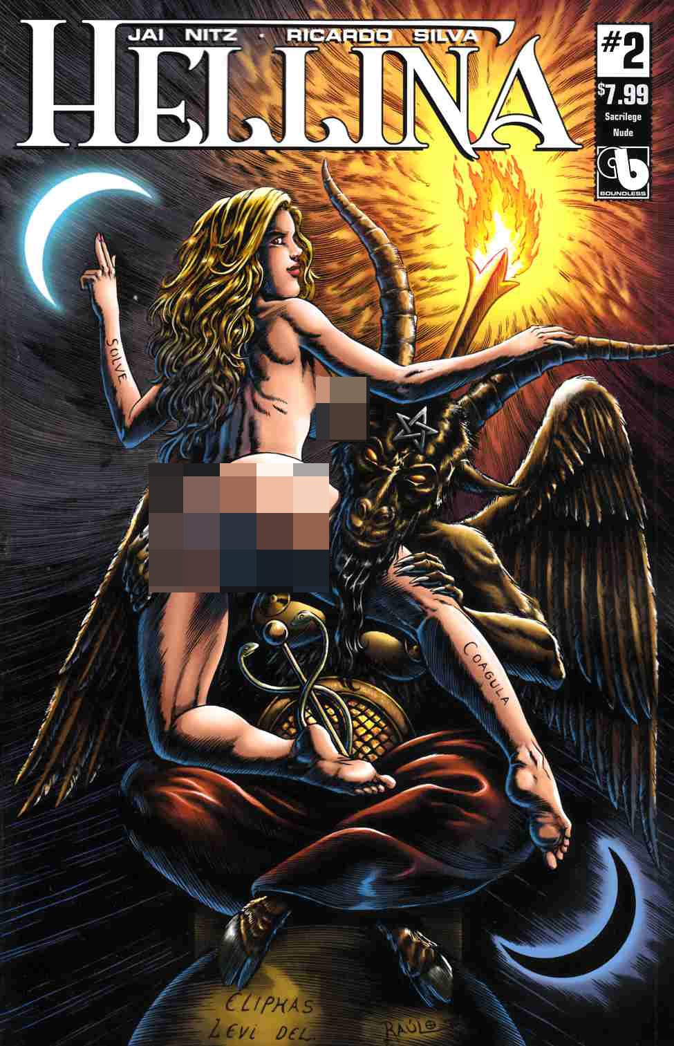 Hellina #2 Sacrilege Nude Cover [Boundless Comic] THUMBNAIL