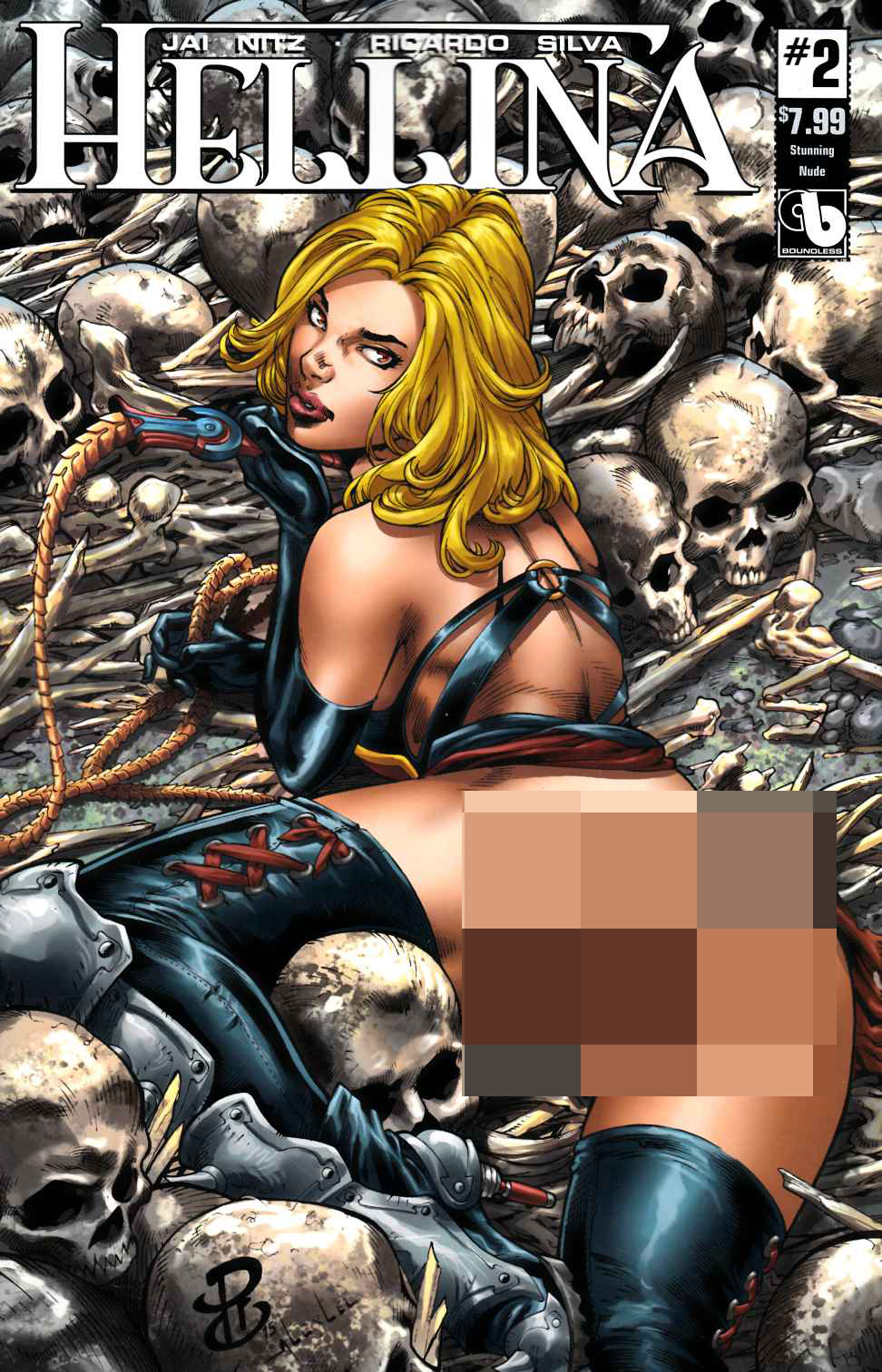 Hellina #2 Stunning Nude Cover [Boundless Comic] LARGE