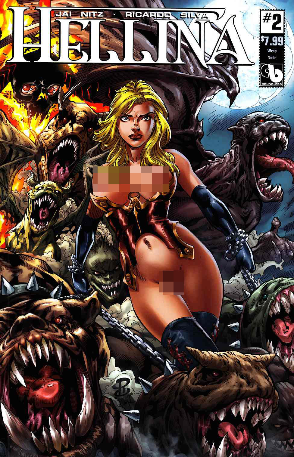Hellina #2 Wrap Nude Cover [Boundless Comic] THUMBNAIL