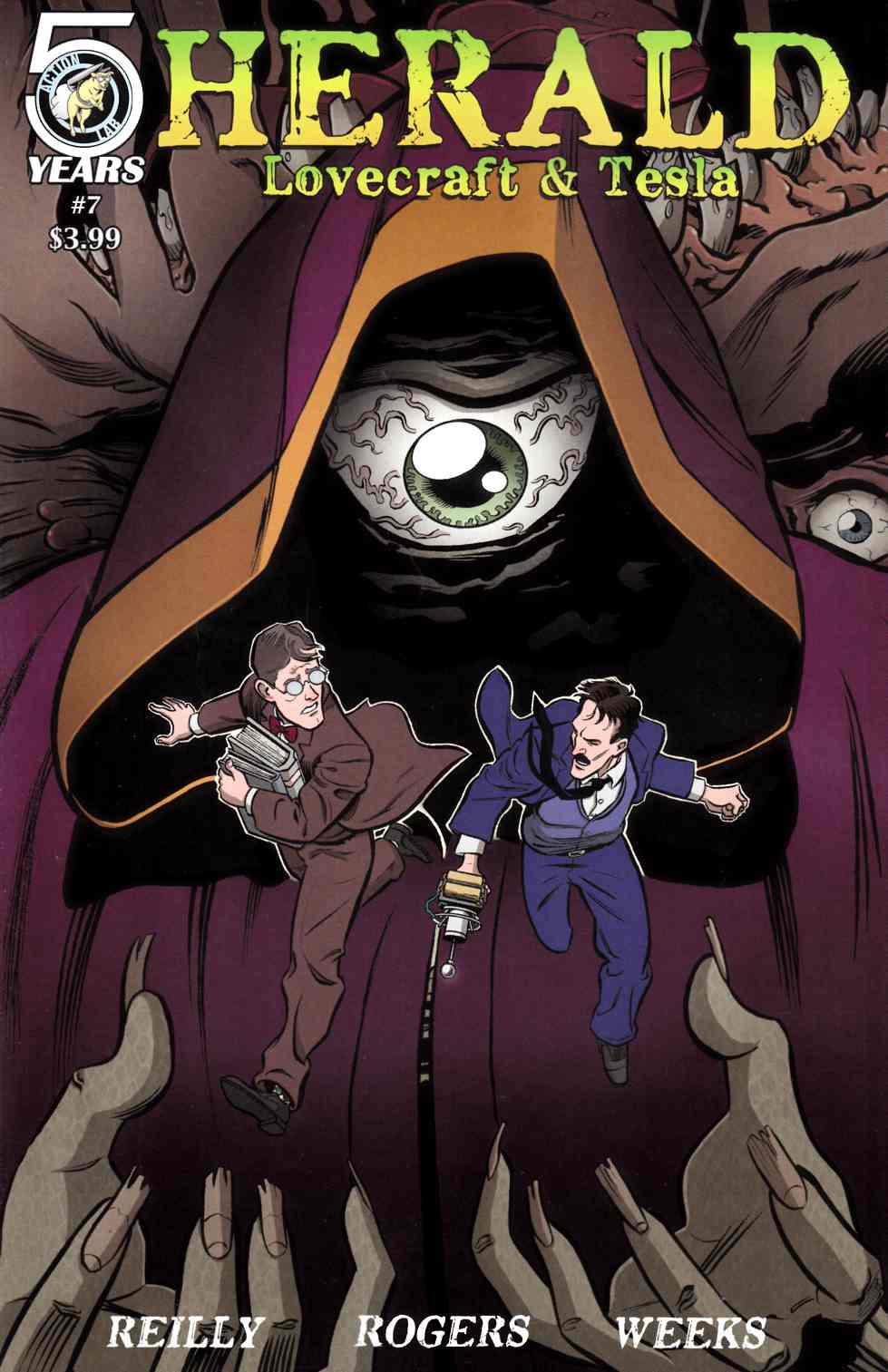 Herald Lovecraft and Tesla #7 [Action Lab Comic] LARGE