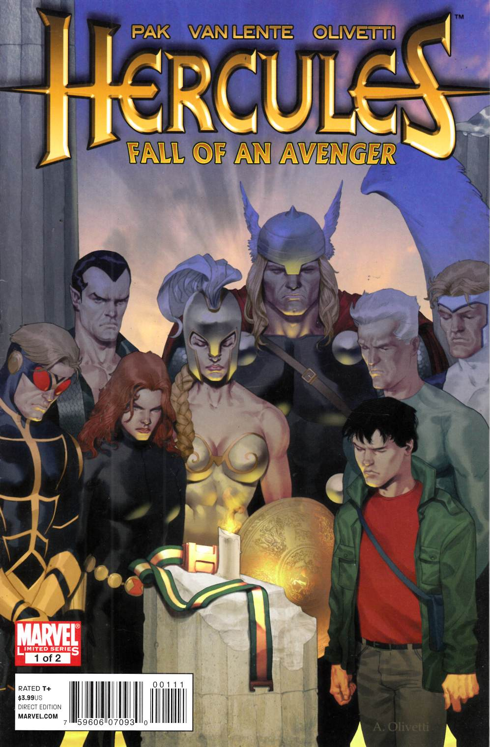 Hercules Fall of an Avenger #1 Very Fine (8.0) [Marvel Comic] THUMBNAIL