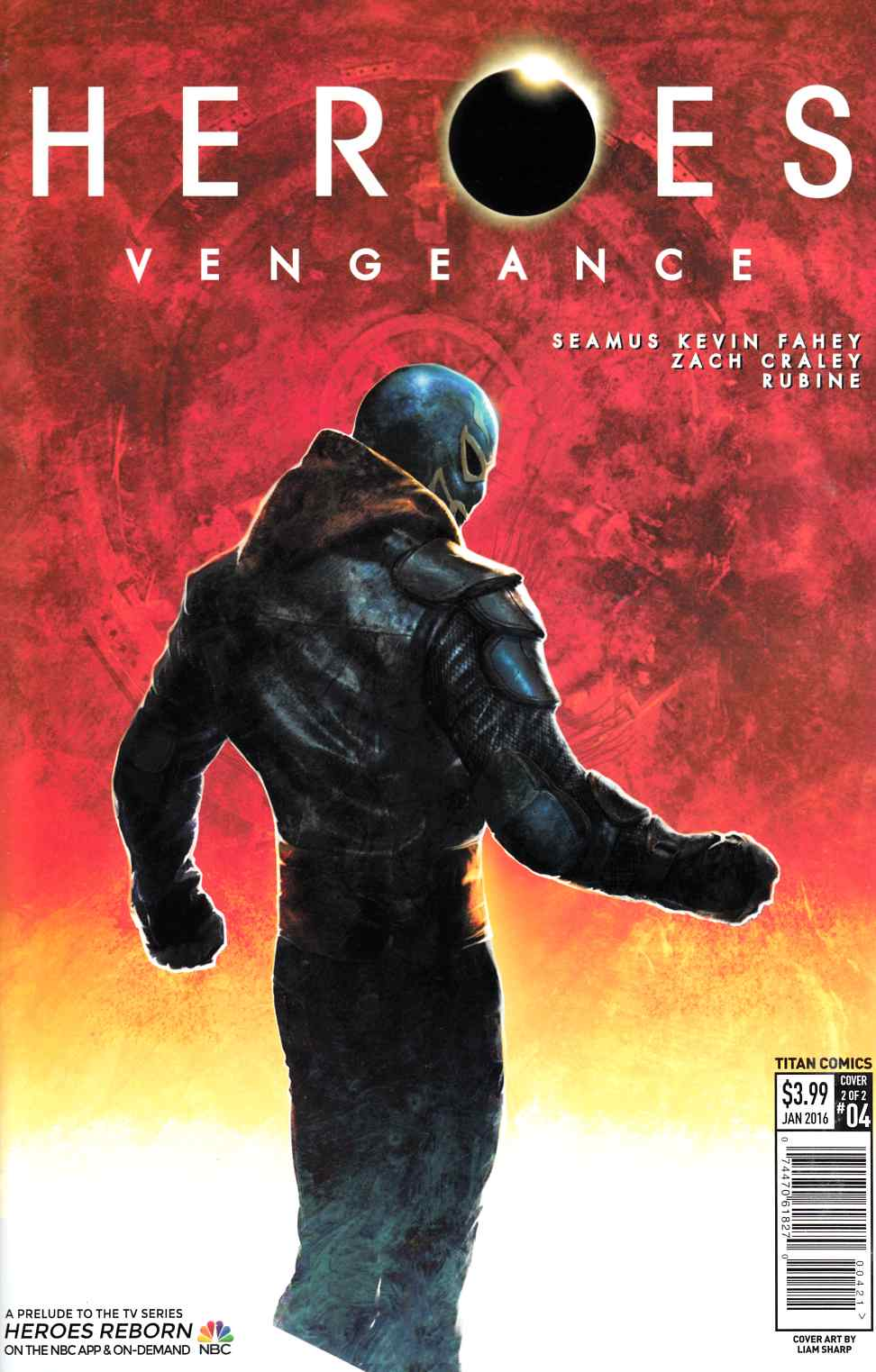 Heroes Vengeance #4 Sharp Subscription Cover [Titan Comic] THUMBNAIL