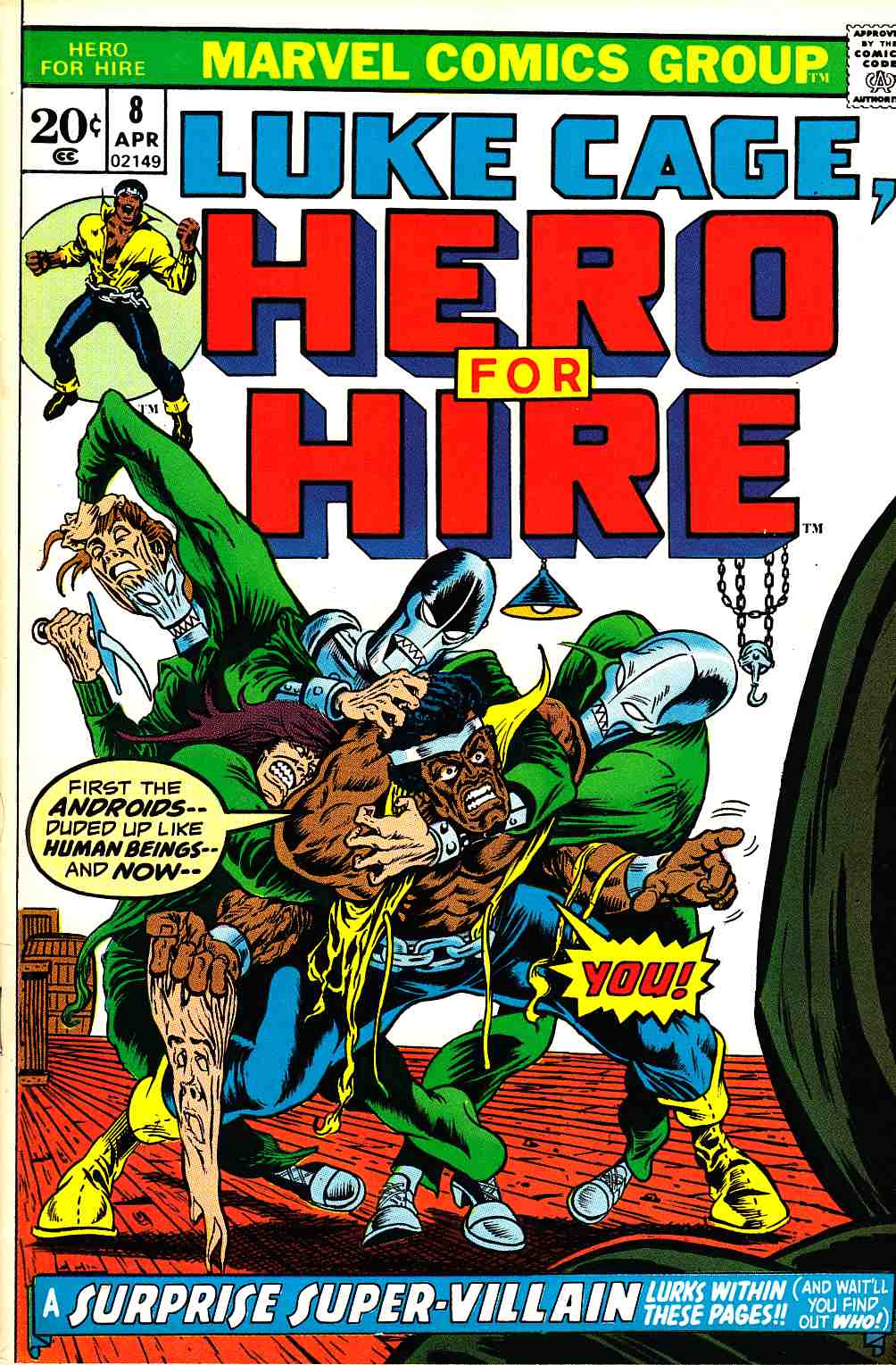 Hero For Hire #8 Very Fine (8.0) [Marvel Comic] LARGE
