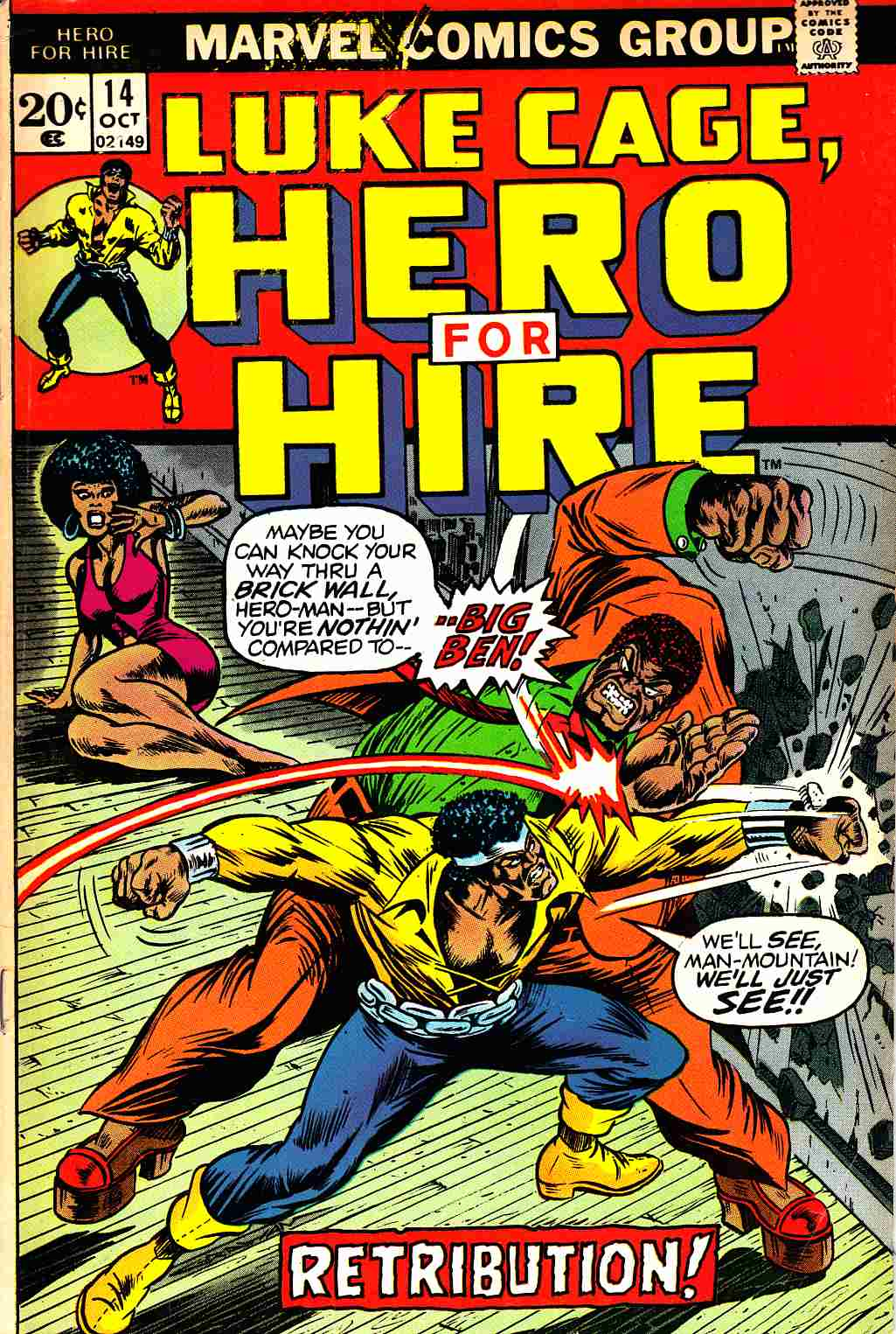 Hero For Hire #14 Very Good (4.0) [Marvel Comic]