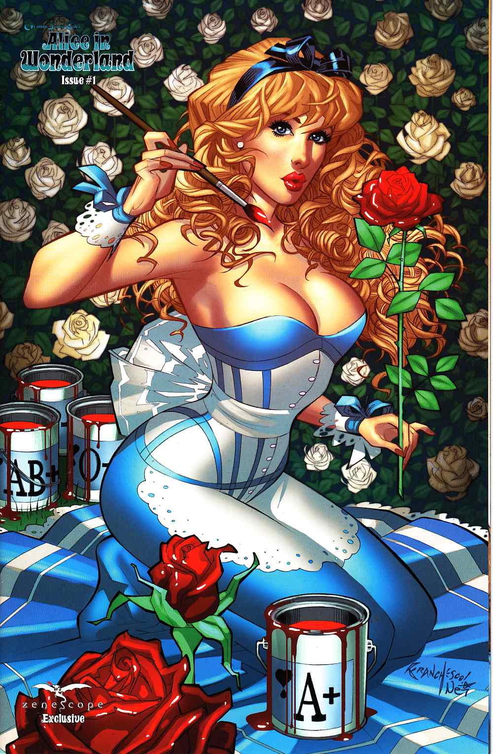 Grimm Fairy Tales Alice In Wonderland #1 Cover D- Zenescope Ltd/500 [Comic] LARGE