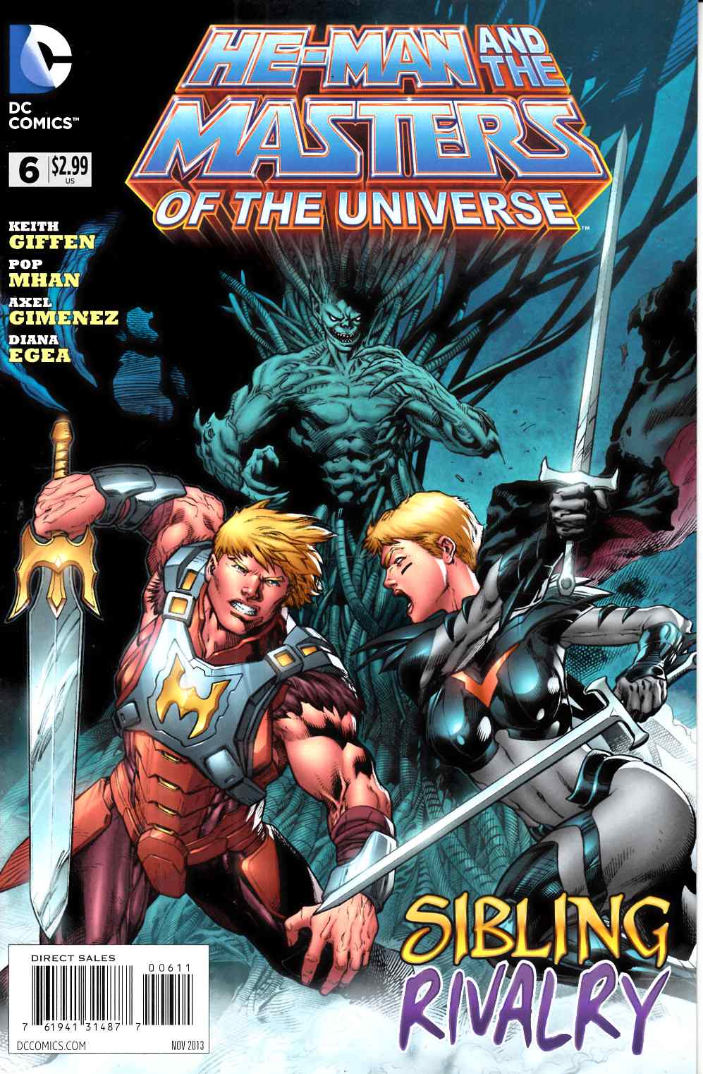 He Man and the Masters of the Universe #6 Near Mint (9.4) [DC Comic] THUMBNAIL