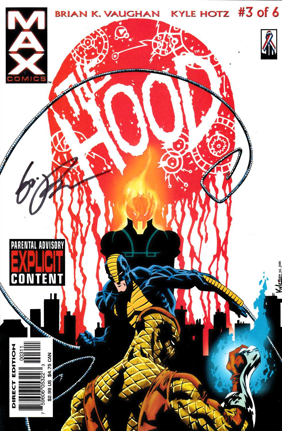 The Hood #3 Signed by Powell Near Mint (9.4) [Marvel Comic] THUMBNAIL