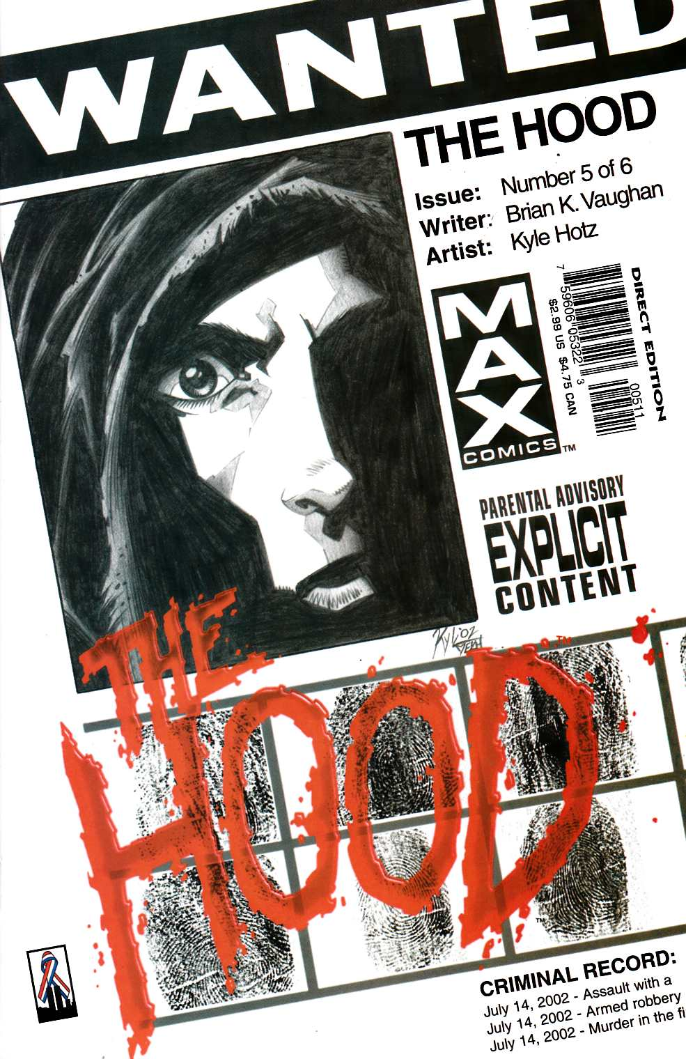The Hood #5 Near Mint (9.4) [Marvel Comic] THUMBNAIL