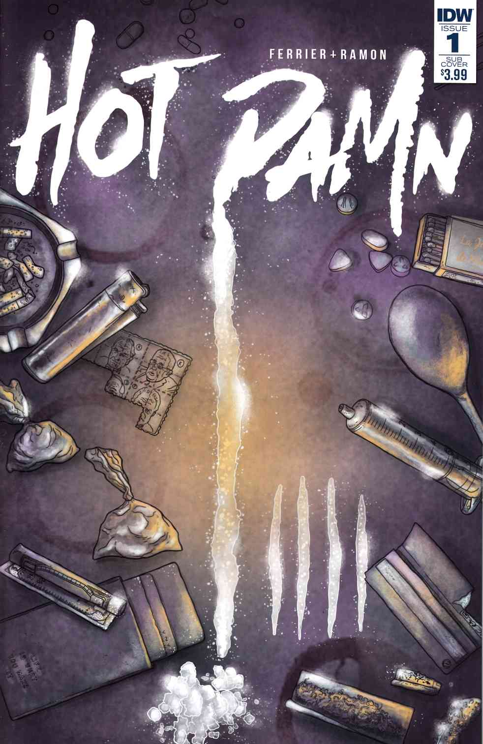 Hot Damn #1 Subscription Cover [IDW Comic] THUMBNAIL