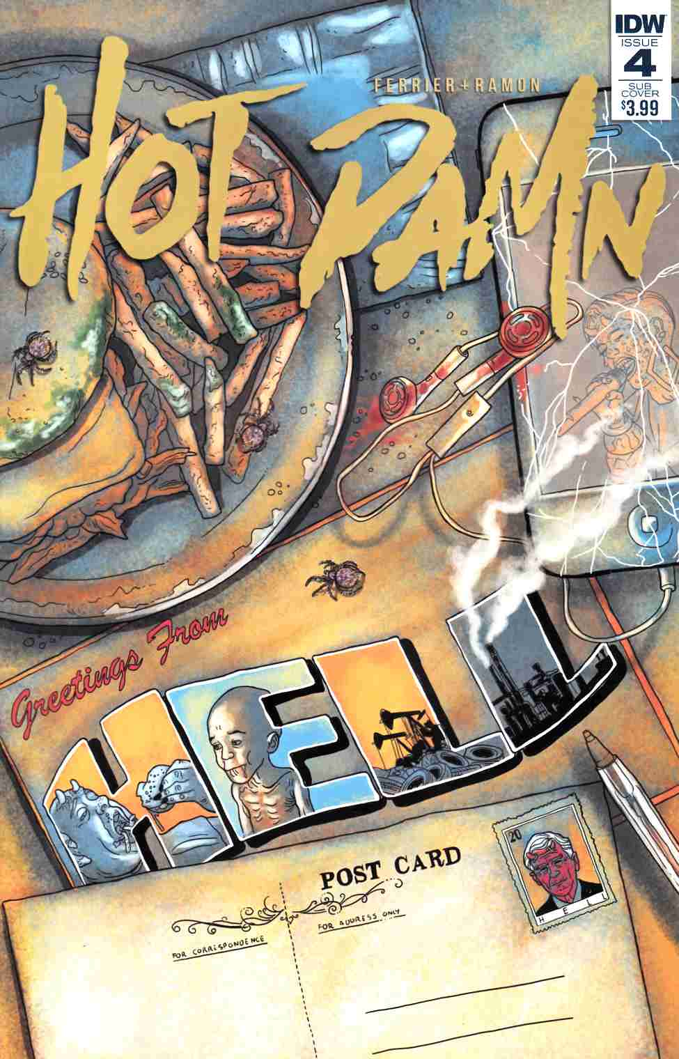 Hot Damn #4 Subscription Cover [IDW Comic]