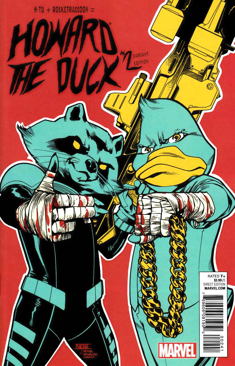 Howard The Duck 2 Run The Jewels Variant Cover Marvel Comic