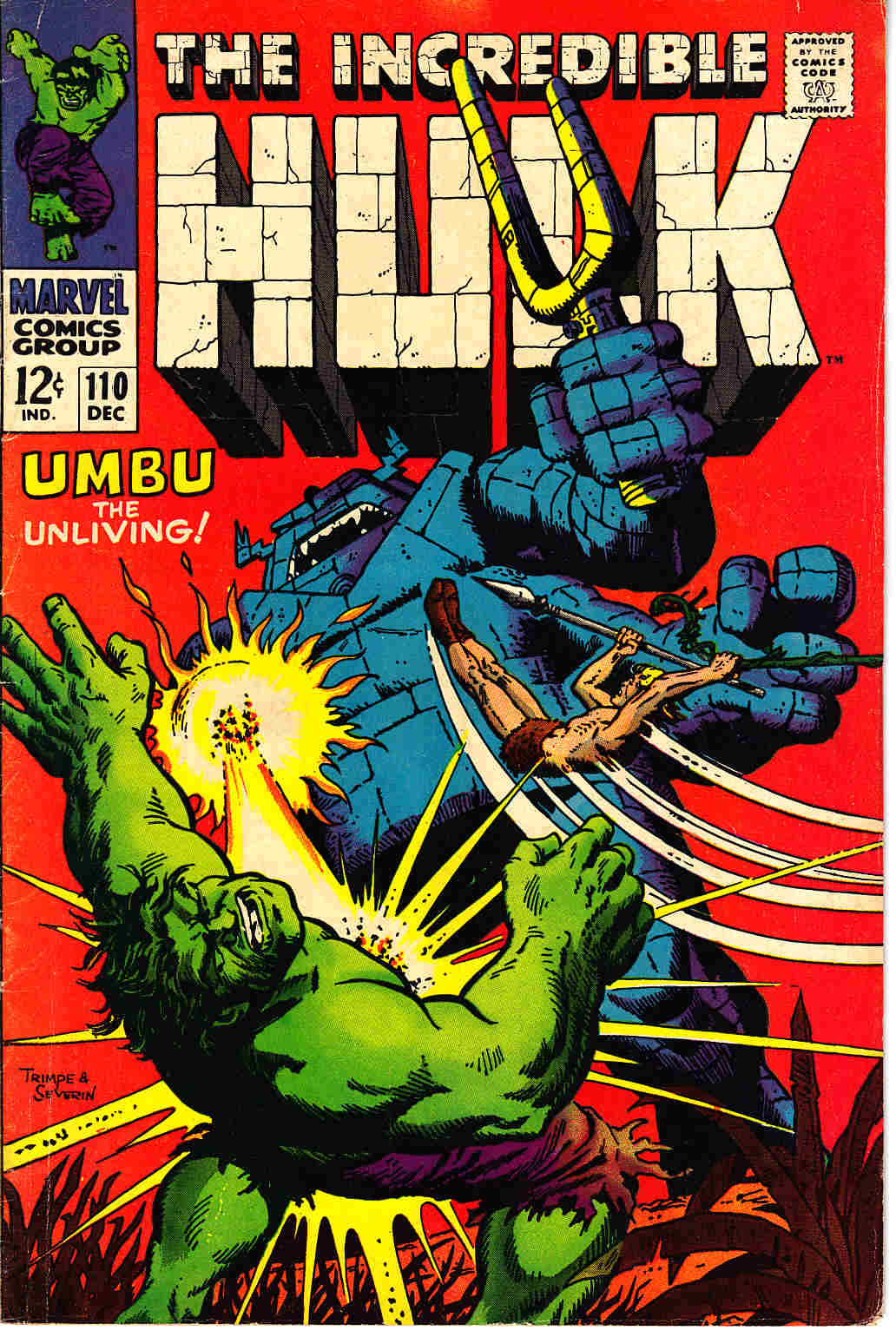 Incredible Hulk #110 Fine (6.0) [Marvel Comic] THUMBNAIL