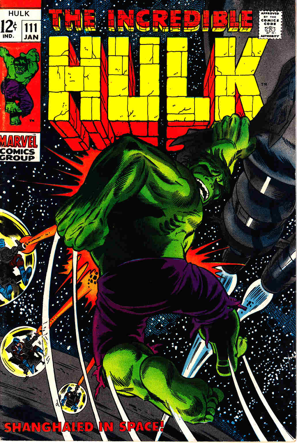 Incredible Hulk #111 Fine Plus (6.5) [Marvel Comic] THUMBNAIL