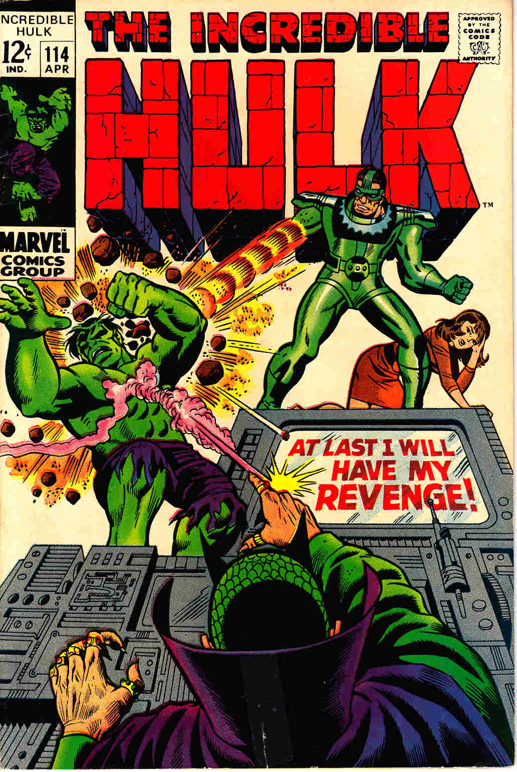 Incredible Hulk #114 Very Good Minus (3.5) [Marvel Comic] THUMBNAIL