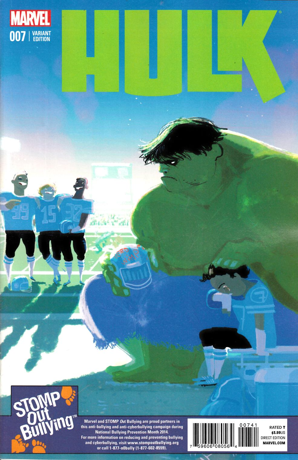 Hulk #7 Stomp Out Bullying Variant Cover [Marvel Comic] THUMBNAIL