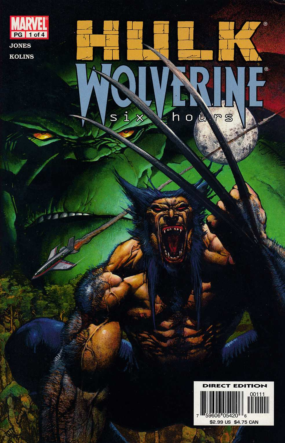 Hulk Wolverine Six Hours #1 Very Fine (8.0) [Marvel Comic] THUMBNAIL