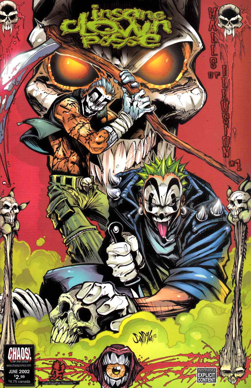 Insane Clown Posse Halls of Illusion #1 Cover A Near Mint (9.4) [Chaos Comic] LARGE