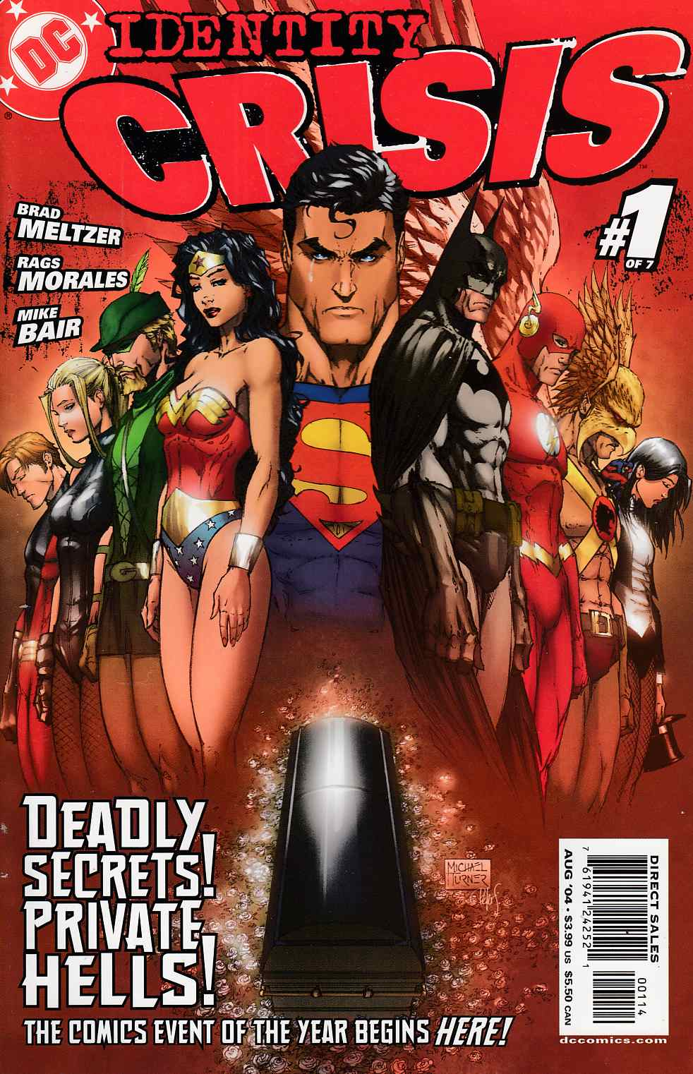 Identity Crisis #1 Fourth Printing Near Mint (9.4) [DC Comic] THUMBNAIL