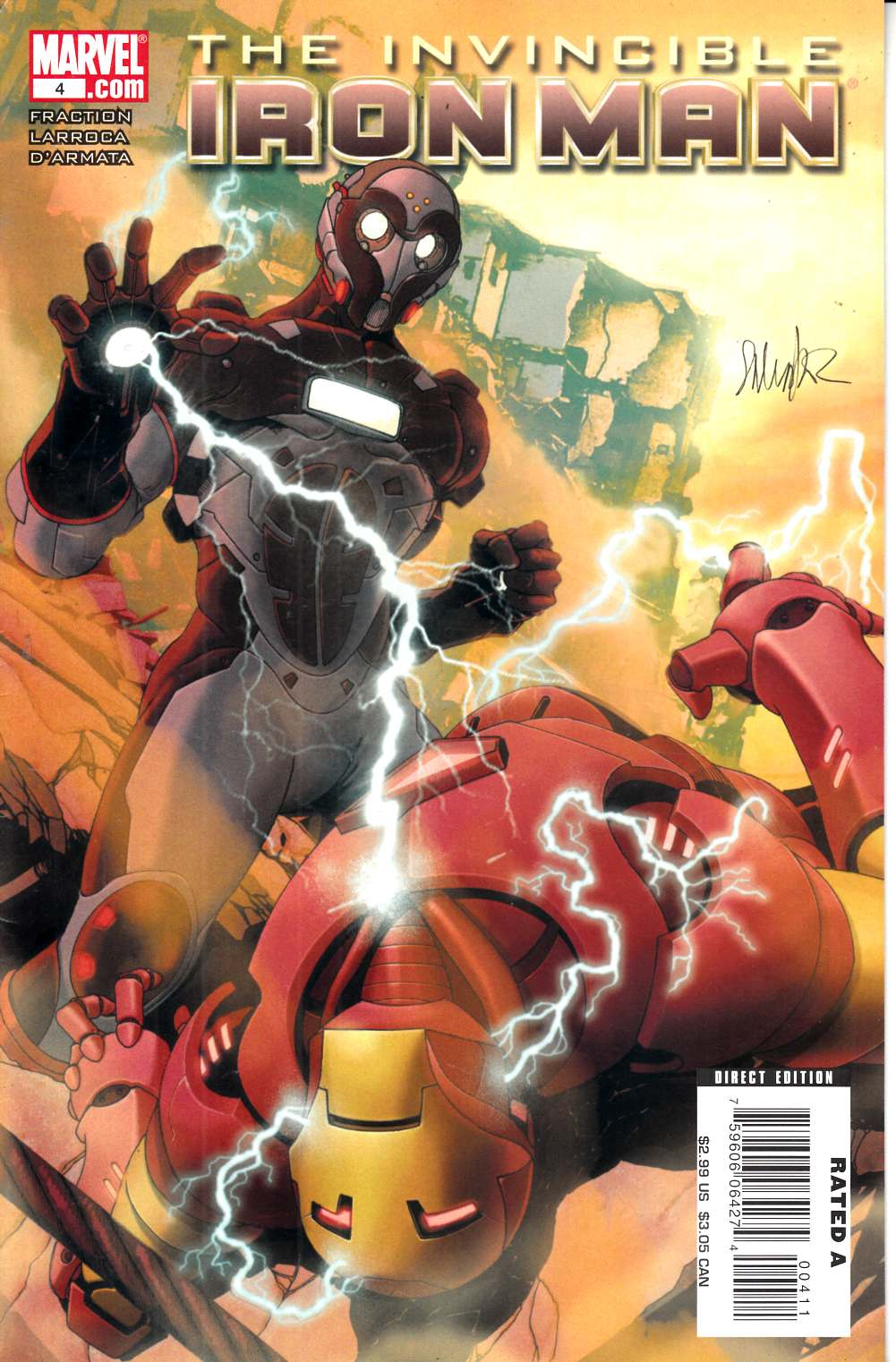 Invincible Iron Man #4 Very Good/Fine (5.0) [Marvel Comic] THUMBNAIL