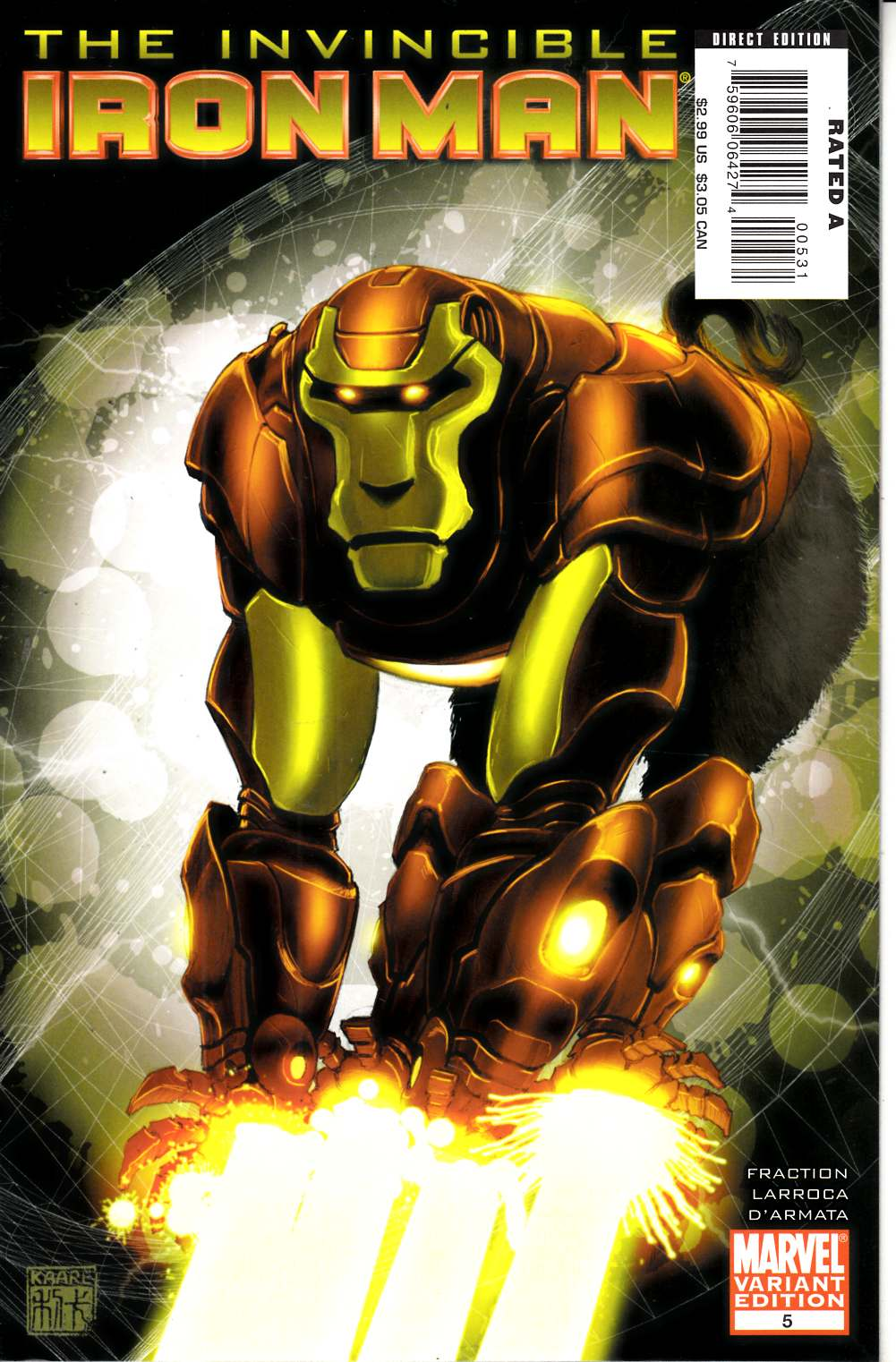 Invincible Iron Man #5 Monkey Variant Cover Very Fine (8.0) [Marvel Comic] THUMBNAIL