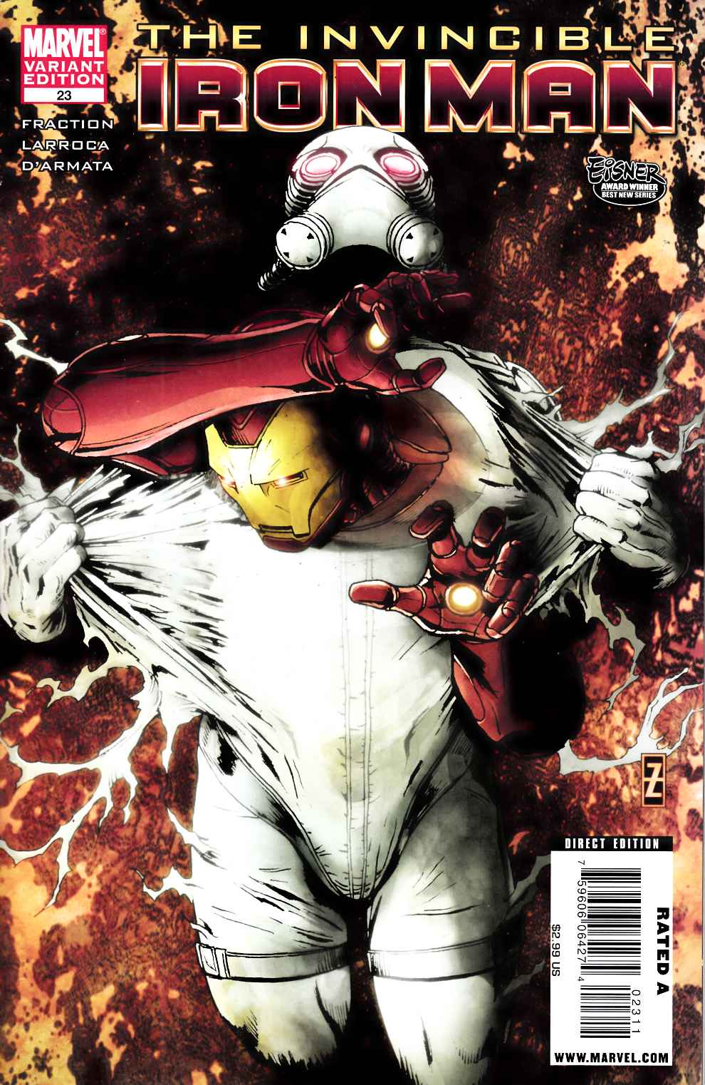 Invincible Iron Man #23 Zircher Variant Cover Very Fine (8.0) [Marvel Comic] THUMBNAIL
