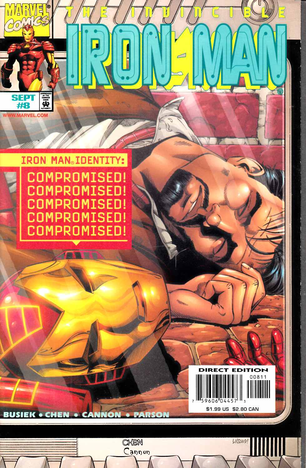Iron Man #8 Near Mint (9.4) [Marvel Comic] THUMBNAIL