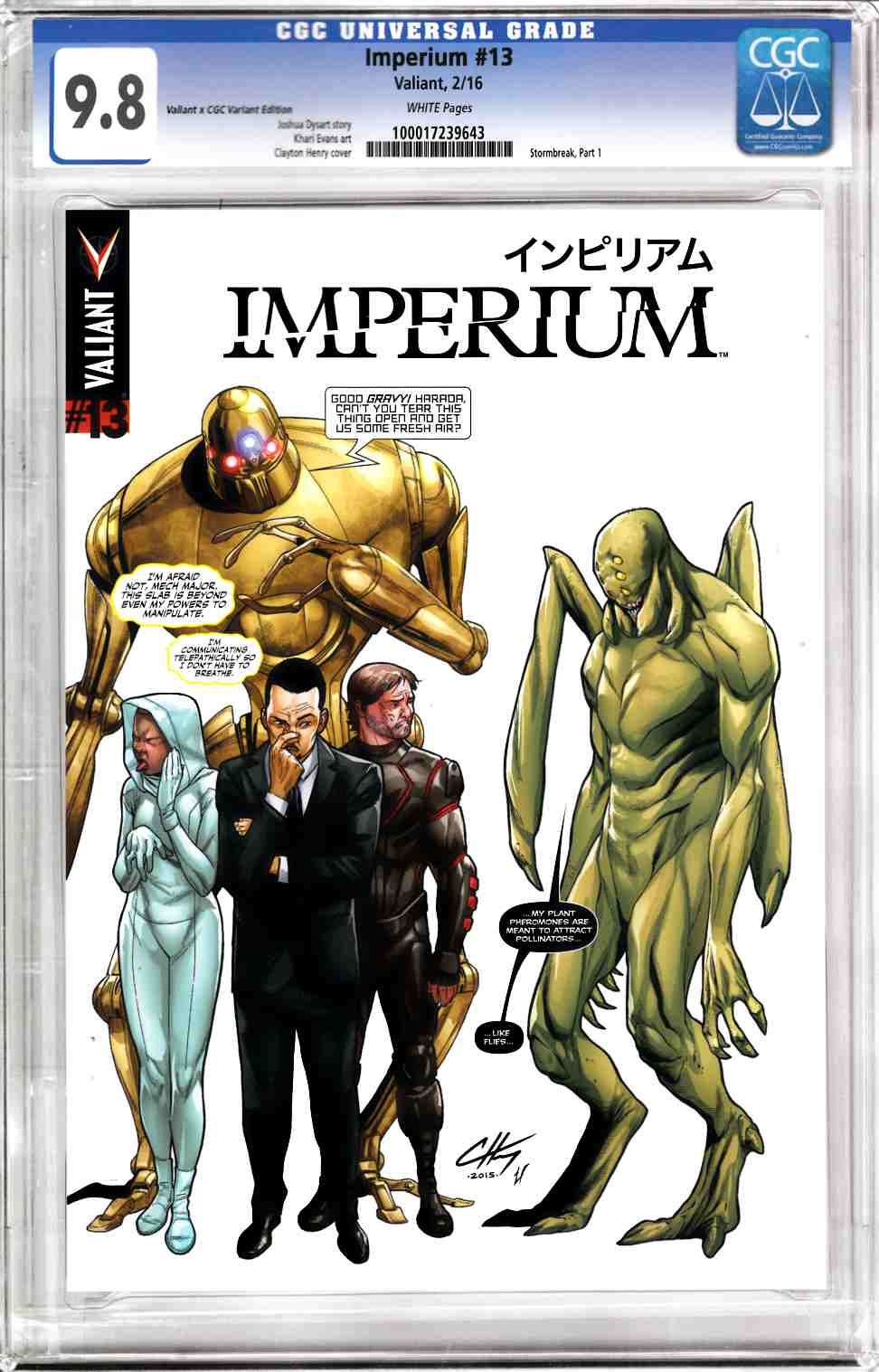 Imperium #13 Cover C- CGC Replica Henry [Valiant Comic]_LARGE