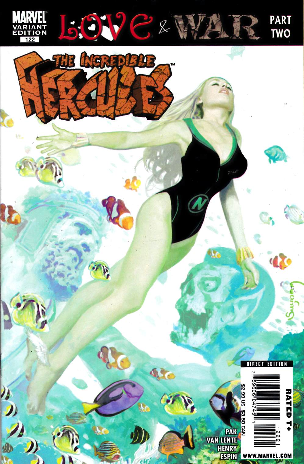 Incredible Hercules #122 Suydam Zombie Variant Near Mint (9.4) [Marvel Comic] THUMBNAIL