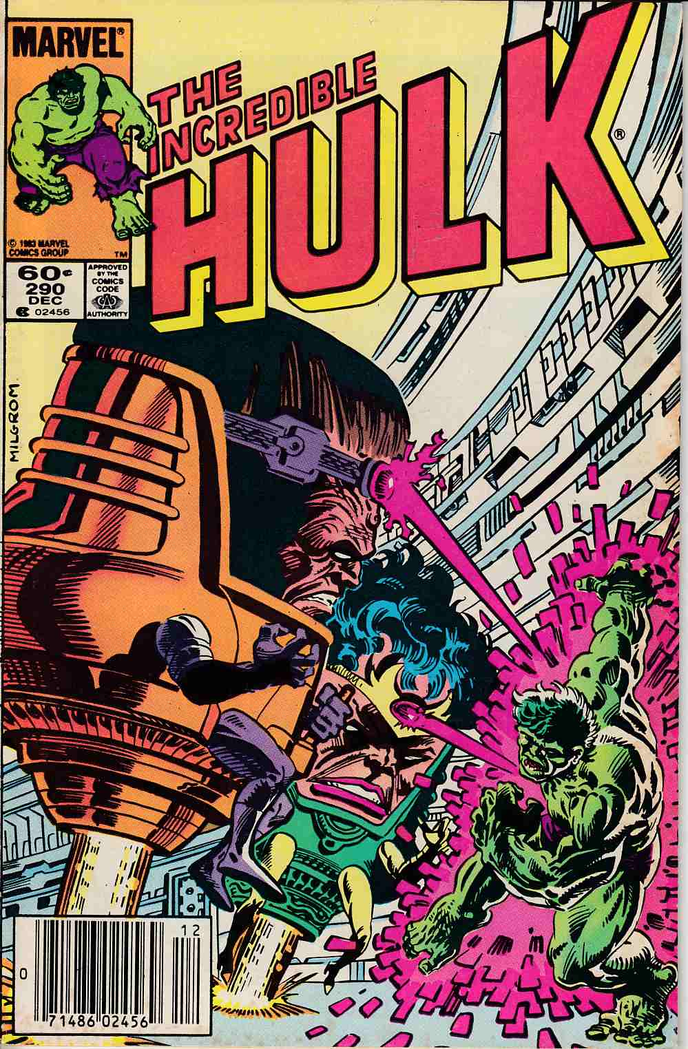 Incredible Hulk #290 Newsstand Edition Fine (6.0) [Marvel Comic] LARGE