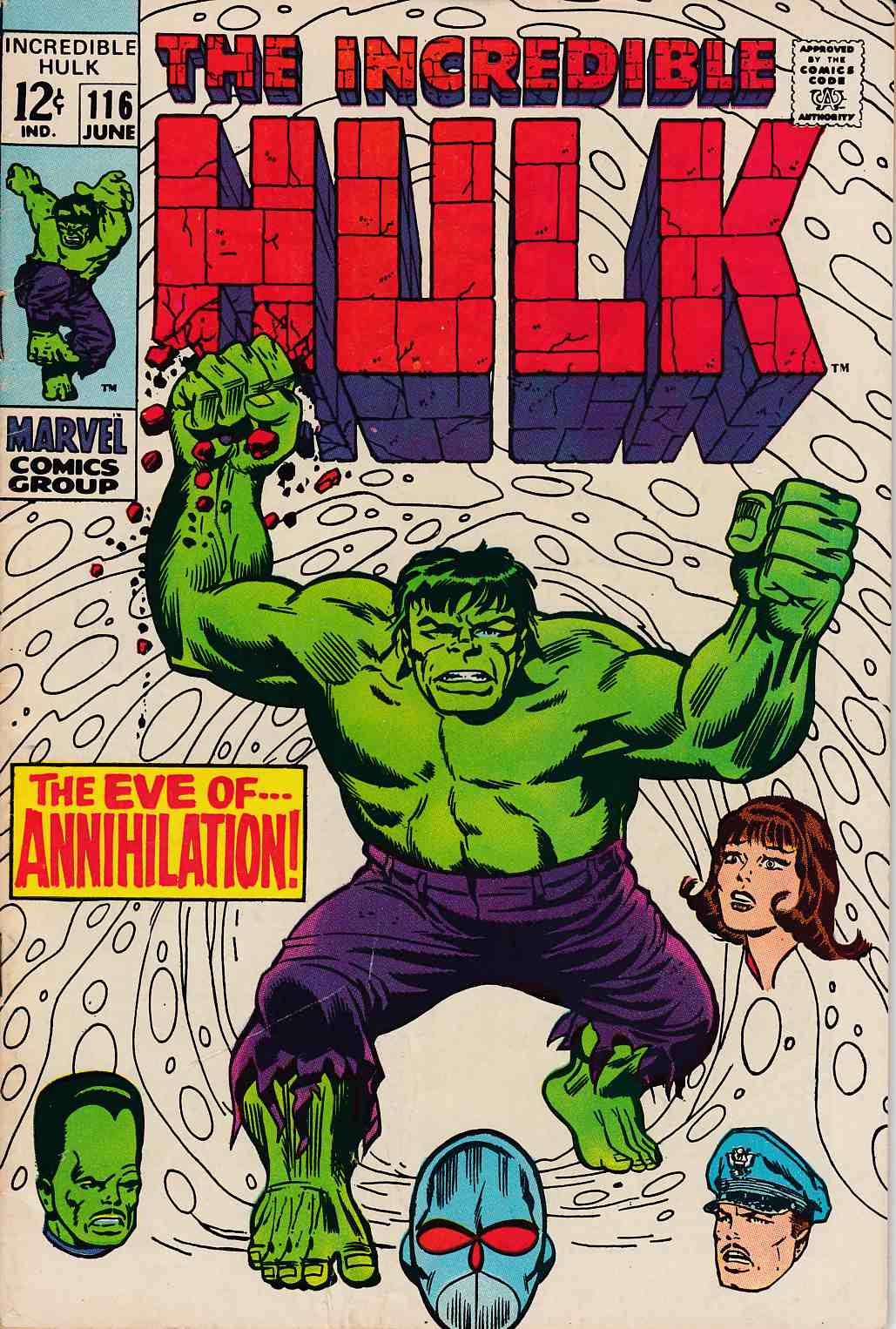Incredible Hulk #116 Fine Plus (6.5)  [Marvel Comic] THUMBNAIL