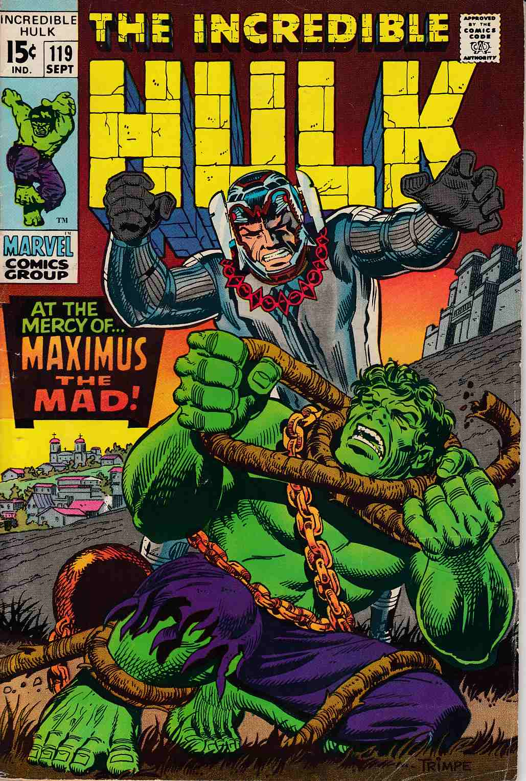 Incredible Hulk #119 Very Good (4.0) [Marvel Comic] THUMBNAIL