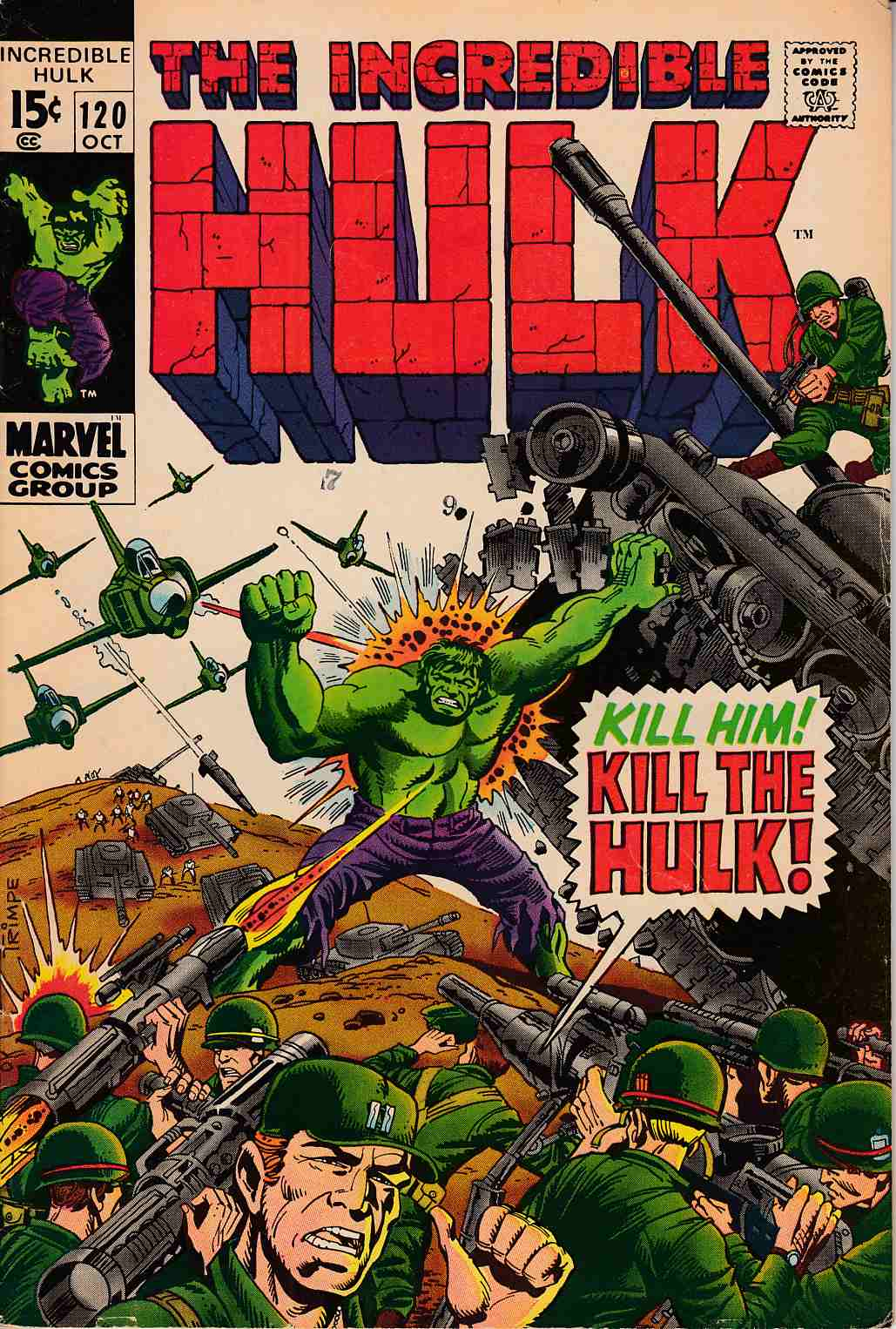 Incredible Hulk #120 Very Good Minus (3.5) [Marvel Comic] THUMBNAIL