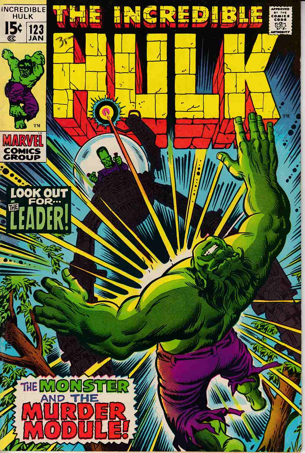 Incredible Hulk #123 Fine Plus (6.5) [Marvel Comic] THUMBNAIL